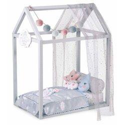 DeCuevas 54929 Drewniane łóżeczko dla lalek DOMEK z akcesoriami