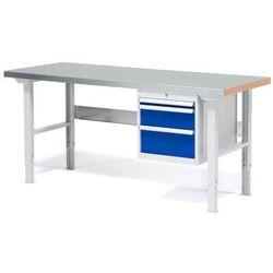 Stół warsztatowy SOLID, z 3 szufladami, 500 kg, 1500x800 mm, stal