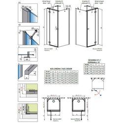 Radaway Essenza New KDJ+S drzwi prysznicowe 100 cm prawe 385022-01-01R