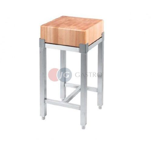 Pozostała gastronomia, Kloc masarski 400x400 drewniany na podstawie ze stali nierdzewnej 684411