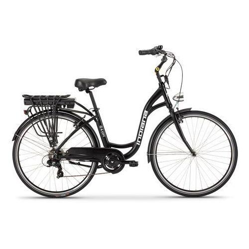 Rowery elektryczne, Rower elektryczny INDIANA E-City D18 Czarny + Zamów z DOSTAWĄ JUTRO! + DARMOWY TRANSPORT!