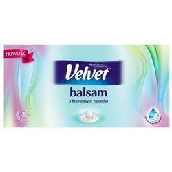 VELVET 70szt Balsam Kremowy zapach Chusteczki uniwersalne Pudełko