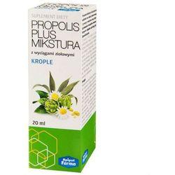 Propolis Plus Mikstura z wyciągami ziołowymi krople 20ml Apipol Farma