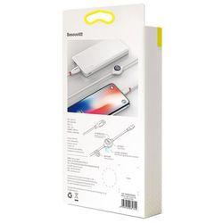 Baseus Big Eye kabel USB / Lightning z wyświetlaczem napięcia ładowania 2A 1,2M biały (CALEYE-02)