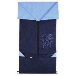Emitex śpiworek do wózka/fusak 2w1 Bary, niebieski/jasnoniebieski