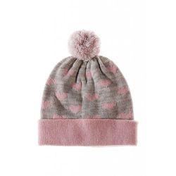 Czapka dziewczęca na zimę 3X3522 Oferta ważna tylko do 2019-11-15