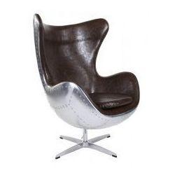 Fotel Jajo insp. Egg brązowy-aluminium