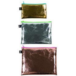Saszetki Zip Pockets 3 szt. Metalic Kolorowe Zamki