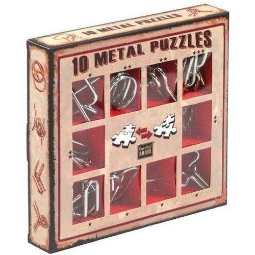 Gry dla dzieci, Łamigłówki metalowe 10 sztuk zestaw czerwony