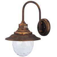 Lampy ścienne, Kinkiet zewnętrzny lampa ścienna Rabalux Barcelona 1x60W E27 IP43 antyczne złoto 8677