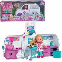 Lalki dla dzieci, Simba lalka doktor evi ambulans 2w1