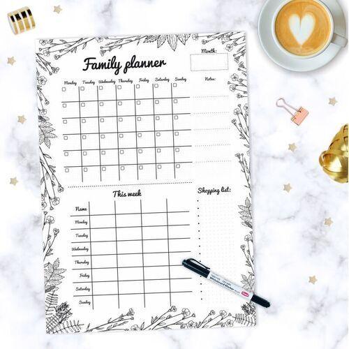 Tablice szkolne, Tablica suchościeralna Family planner 479