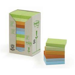 POST-IT Bloczek ekologiczny TOWER, 38 x 51mm, pastel, 24 sztuki po 100 kartek