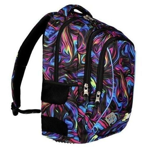 Tornistry i plecaki szkolne, ST.RIGHT Plecak szkolny 3 komory Blue Illusion