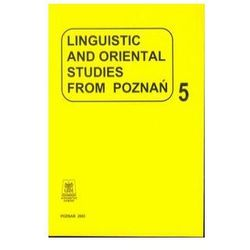 Linguistic and oriental studies from Poznań vol. 5 (opr. miękka)