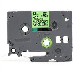 Taśma Brother TZe-D21 9mm x 5m fluorescencyjna zielona czarny nadruk - zamiennik | OSZCZĘDZAJ DO 80% - ZADZWOŃ!