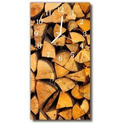 Zegar Szklany Pionowy Drewno drewniany beżowy