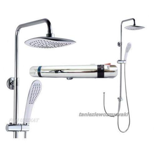 Zestawy prysznicowe, OWAL Bateria Natryskowa Prysznicowa Termostatyczna z Deszczownicą