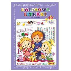 Kolorowe literki. Książeczka edukacyjna + 40 naklejek Gołek Halina