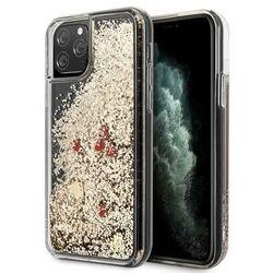 Etui Guess GUHCN58GLHREGO iPhone 11 Pro gold/złoty hard case Liquid Glitter Hearts Guess / GUE000589 GUE000589