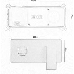Bateria umywalkowa podtynkowa QATRO CZARNA