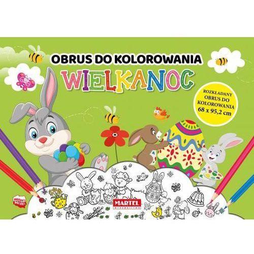 Książki dla dzieci, Obrus do kolorowania. Wielkanoc (opr. broszurowa)