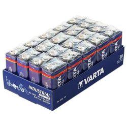 20x bateria alkaliczna Varta Industrial 6LR61/9V 4022 (taca)
