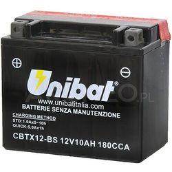 Akumulator UNIBAT AGM CBTX12-BS 12V 10Ah 180A lewy+