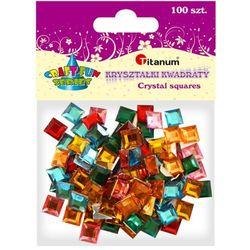 Kryształki TITANUM kwadratowe mix op.100 282940