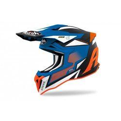 Airoh kask off-road strycker axe orange/blue matt