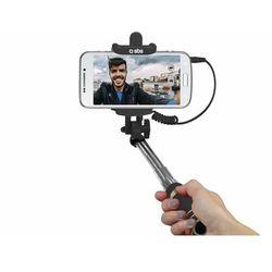 Kijek do selfie SBS Mini Selfie Stick Jack 3,5 mm Czarny TESELFISHAFTMINIFR