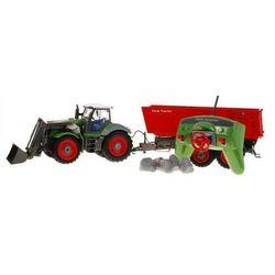 ZESTAW FARMERA: Duży Zdalnie Sterowany Traktor z Przyczepą (1:28) + Pilot Radiowy i Akcesoria.