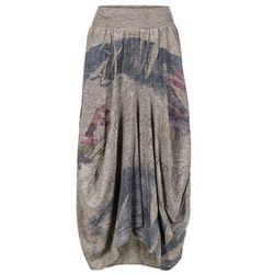 Spódnica shirtowa bonprix brunatny melanż z kolorowym nadrukiem