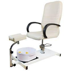 Fotel do pedicure masażerem stóp Kosmetyczny KREM