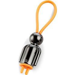 Breloczek na klucze Mister czarny Flick Philippi pomarańczowa zawieszka (P273046)