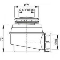Syfony, Syfon brodzikowy fi 60 A47CR (1)