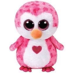TY Beanie Boos Różowy Pingwin Juliet serce, 24 cm