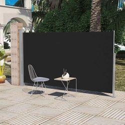 Markiza boczna na taras, 160 x 300 cm, czarna
