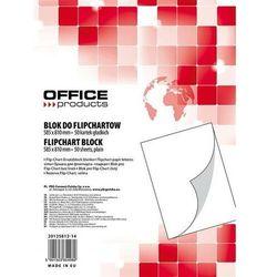 Blok flipchart OFFICE PRODUCTS, gładki, 58,5x81cm, 50 kart., biały