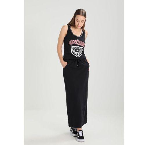 Suknie i sukienki, Superdry LEGACY Długa sukienka beta navy