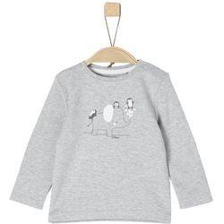 s.Oliver koszulka chłopięca z nadrukiem 50/56 szary - BEZPŁATNY ODBIÓR: WROCŁAW!