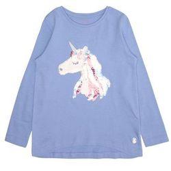 TOM TAILOR Koszulka 'T-shirt placed print' niebieski