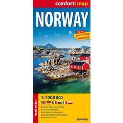 Norwegia Laminowana Mapa Samochodowa 1:1 000 000 (opr. miękka)