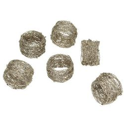 Dekoria Komplet obrączek na serwetki Nest, 13 × 11 × 5 cm
