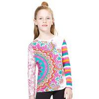 Koszulki z krótkim rękawkiem dziecięce, Desigual T-shirt dziewczęcy 116 wielokolorowy - BEZPŁATNY ODBIÓR: WROCŁAW!