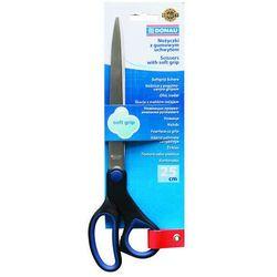 Nożyczki biurowe DONAU Soft Grip, 25cm, niebieskie