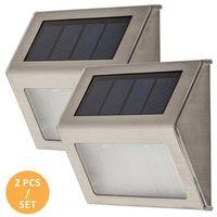 Lampy ścienne, Kinkiet Rabalux Santiago 8784 lampa zewnętrzna 2x0,12W LED IP44 srebrny