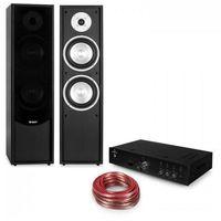 Kolumny głośnikowe, Auna Linie-300 Zestaw wzmacniacza Bluetooth Hi-Fi i kolumn stojących pasywnych kolor czarny