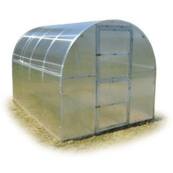 """Tunel szklarnia """"Omega"""" 2x4 z ocynkowanego profilu z poliwęglanem 6 mm"""