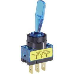 Przełącznik samochodowy podświetlany, SCI R13-61B, O 12,2 mm, 20 A, 12 V, niebieski